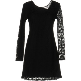 《セール開催中》DRY LAKE. レディース ミニワンピース&ドレス ブラック XS コットン 50% / ナイロン 50%