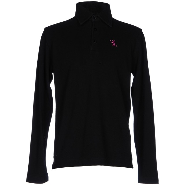 《期間限定 セール開催中》BILLIONAIRE メンズ ポロシャツ ブラック XL コットン 100%