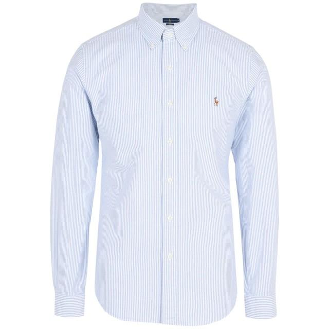 《期間限定 セール開催中》POLO RALPH LAUREN メンズ シャツ スカイブルー M コットン 100% Slim Fit Cotton Oxford Shirt