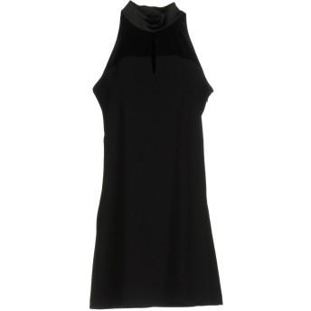 《セール開催中》ANNARITA N レディース ミニワンピース&ドレス ブラック 44 ポリエステル 97% / ポリウレタン 3% / ナイロン / ゴム