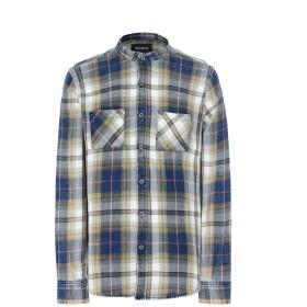 《期間限定セール開催中!》EDWA メンズ シャツ ブルー S コットン 100%