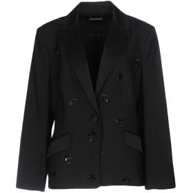 《期間限定 セール開催中》DIANE VON FURSTENBERG レディース テーラードジャケット ブラック 12 96% ウール 4% ポリウレタン