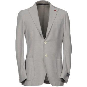 《セール開催中》TOMBOLINI メンズ テーラードジャケット ライトグレー 48 コットン 100%