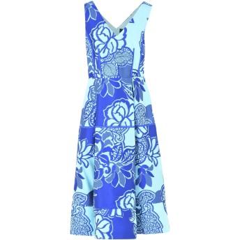 《9/20まで! 限定セール開催中》MARIA GRAZIA SEVERI レディース 7分丈ワンピース・ドレス ブルー 40 ポリエステル 63% / コットン 25% / シルク 12%