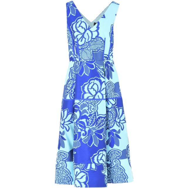 《期間限定セール開催中!》MARIA GRAZIA SEVERI レディース 7分丈ワンピース・ドレス ブルー 40 ポリエステル 63% / コットン 25% / シルク 12%