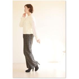 ニット・セーター - Sawa a la mode ピュアに明るく、透かす肌。レディース ファッション トップス ニット 長袖 ミディアム丈 ホワイト フリーサイズ M L LLMサイズ Lサイズ LLサイズ 9号 11号 13号 15号 サワアラモード Sawa a la mo