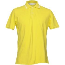 《期間限定 セール開催中》PEUTEREY メンズ ポロシャツ イエロー XXS コットン 100%
