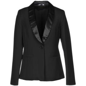 《期間限定 セール開催中》LIU JO レディース テーラードジャケット ブラック 42 92% ポリエステル 8% ポリウレタン