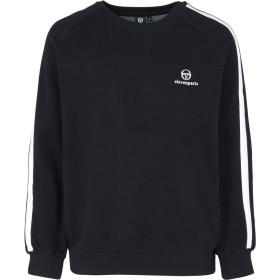 《期間限定 セール開催中》SERGIO TACCHINI x ELEVEN PARIS メンズ スウェットシャツ ブラック L コットン 80% / ポリエステル 20%