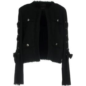《送料無料》PINKO レディース テーラードジャケット ブラック 46 48% コットン 40% アクリル 10% ポリエステル 2% レーヨン