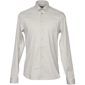 《送料無料》PATRIZIA PEPE メンズ シャツ ライトグレー 46 コットン 67% / ナイロン 27% / ポリウレタン 6%