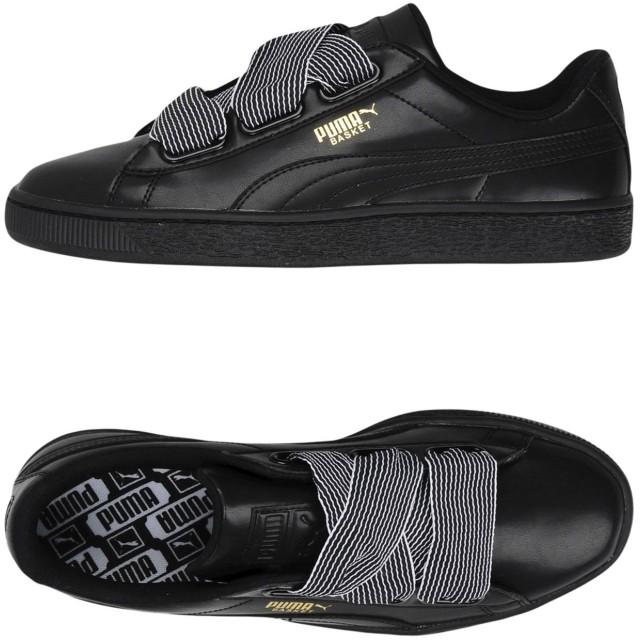 《期間限定セール開催中!》PUMA レディース スニーカー&テニスシューズ(ローカット) ブラック 3.5 紡績繊維 Basket Heart Wn's