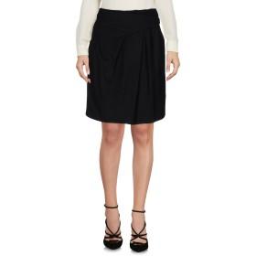 《セール開催中》E_GO' SONIA DE NISCO レディース ひざ丈スカート ブラック 44 レーヨン 69% / バージンウール 16% / ウール 13% / ポリウレタン 2%