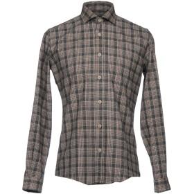 《セール開催中》LIU JO MAN メンズ シャツ ダークブラウン 38 コットン 70% / ポリエステル 30%