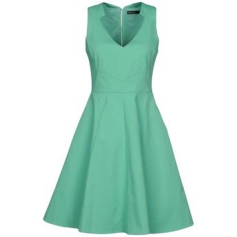 《セール開催中》KAREN MILLEN レディース ミニワンピース&ドレス グリーン 10 コットン 52% / ナイロン 43% / ポリウレタン 5%