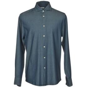 《期間限定セール開催中!》DEPERLU メンズ デニムシャツ ブルー XXL コットン 100%