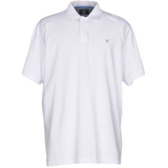 《期間限定セール開催中!》HACKETT メンズ ポロシャツ ホワイト XXL コットン 100%