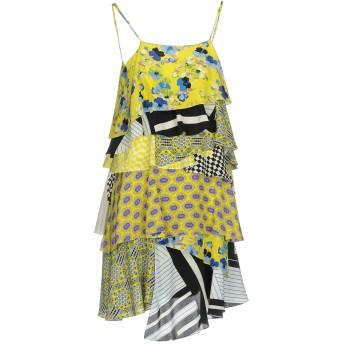《セール開催中》MSGM レディース ミニワンピース&ドレス イエロー 42 100% シルク