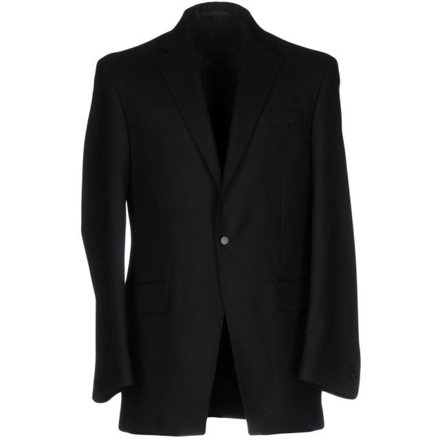 《期間限定 セール開催中》E. TAUTZ メンズ テーラードジャケット ブラック 38 ウール 100%