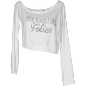 《セール開催中》BLUGIRL BLUMARINE レディース T シャツ ホワイト 42 95% レーヨン 5% ポリウレタン