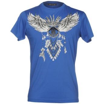 《セール開催中》ROBERTO CAVALLI メンズ T シャツ ブルー M 100% コットン