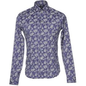 《セール開催中》PATRIZIA PEPE メンズ シャツ ブルー 54 コットン 67% / ナイロン 27% / ポリウレタン 6%