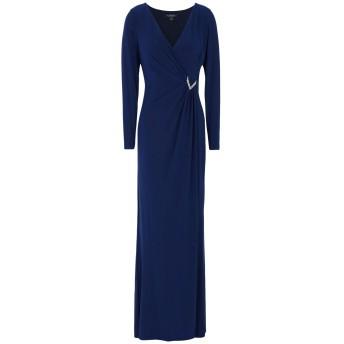 《セール開催中》LAUREN RALPH LAUREN レディース ロングワンピース&ドレス ダークブルー 6 ポリエステル 95% / ポリウレタン 5% Stretch Jersey Long Sleeve Dress