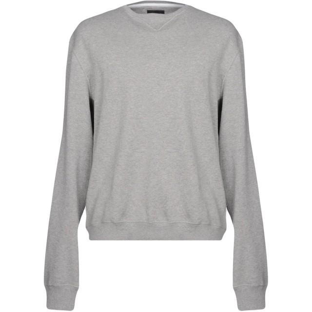 《セール開催中》CALVIN KLEIN JEANS メンズ スウェットシャツ ライトグレー S コットン 100%