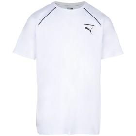 《セール開催中》PUMA メンズ T シャツ ホワイト S コットン 95% / ポリウレタン 5% EVO CORE TEE