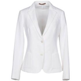 《期間限定セール中》ELEVENTY レディース テーラードジャケット ホワイト 44 コットン 78% / 麻 13% / ナイロン 8% / ポリウレタン 1%