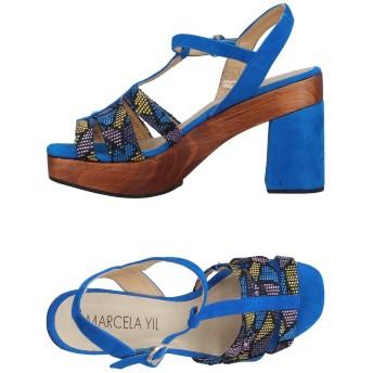 《セール開催中》MARCELA YIL レディース サンダル ブライトブルー 37 革 / 紡績繊維