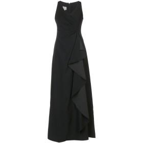 《送料無料》ARMANI COLLEZIONI レディース ロングワンピース&ドレス ブラック 40 ポリエステル 100%