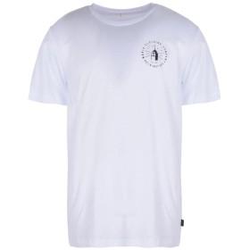 《期間限定 セール開催中》MAKIA メンズ T シャツ ホワイト S コットン 100% STAD T-SHIRT