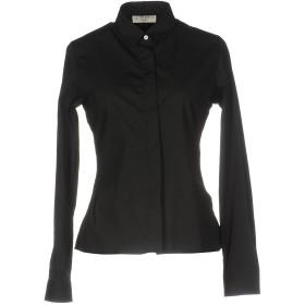 《セール開催中》GLORIA BRUSCHI VERONA レディース シャツ ブラック 44 コットン 70% / ナイロン 27% / ポリウレタン 3%