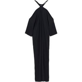 《送料無料》GALLE Paris レディース ロングワンピース&ドレス ブラック 0 コットン 100%