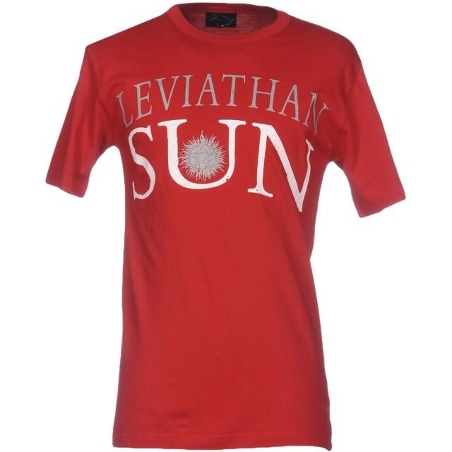 《期間限定セール開催中!》LEVIATHAN メンズ T シャツ レッド L コットン 100%