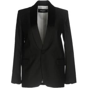 《9/20まで! 限定セール開催中》DSQUARED2 レディース テーラードジャケット ブラック 36 65% バージンウール 35% シルク