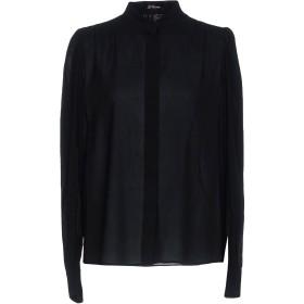 《セール開催中》LES COPAINS レディース シャツ ブラック 42 95% レーヨン 5% ポリウレタン