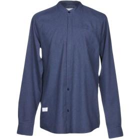 《期間限定セール中》ONTOUR メンズ シャツ ダークブルー L コットン 100%