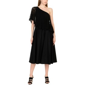 《セール開催中》PLACE NATIONALE レディース 7分丈ワンピース・ドレス ブラック 2 コットン 100%