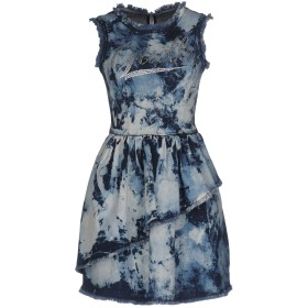 《セール開催中》GALLE Paris レディース ミニワンピース&ドレス ブルー 40 コットン 97% / ポリウレタン 3%