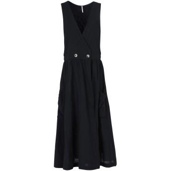 《期間限定セール開催中!》FREE PEOPLE レディース 7分丈ワンピース・ドレス ブラック M コットン 100% DIANA WRAP DRESS