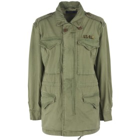 《9/20まで! 限定セール開催中》POLO RALPH LAUREN レディース ブルゾン ミリタリーグリーン XS コットン 100% Military Combat Cotton Jacket