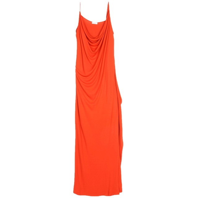 《期間限定セール開催中!》VIONNET レディース ロングワンピース&ドレス オレンジ 46 100% レーヨン シルク