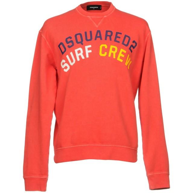 《期間限定セール開催中!》DSQUARED2 メンズ スウェットシャツ レッド XS コットン 100% / ポリウレタン