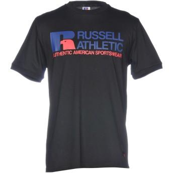 《セール開催中》RUSSELL ATHLETIC メンズ T シャツ ブラック S 100% コットン