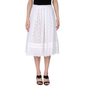 《送料無料》PHILOSOPHY di LORENZO SERAFINI レディース 7分丈スカート ホワイト 42 コットン 95% / 指定外繊維 5%