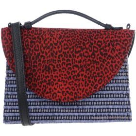 《セール開催中》IMEMOI レディース ハンドバッグ レッド 革 100% / 紡績繊維