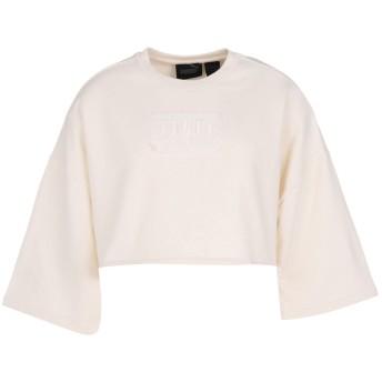 《期間限定セール開催中!》FENTY PUMA by RIHANNA レディース スウェットシャツ アイボリー 14 コットン 80% / ポリエステル 16% / ポリウレタン 4% CROPPED CREW NECK T-SHIRT
