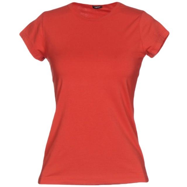 《期間限定 セール開催中》ASPESI レディース T シャツ レッド S 94% コットン 6% ポリウレタン